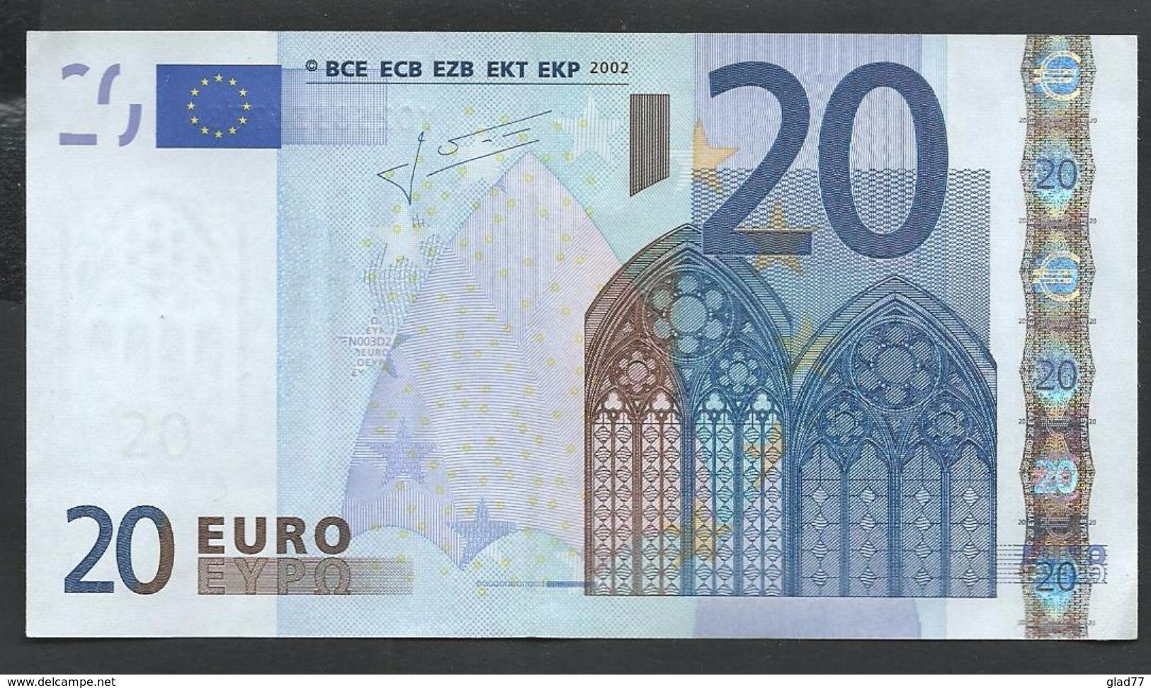 """Greece  """"Y""""  20  EURO GEM UNC! Trichet Signature! Printer N003D2  UNC! - 20 Euro"""