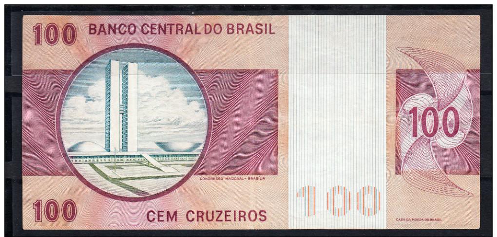 BRASIL 1970 . 100 CRUZEIROS FLORIANO PEIXOTO Y CONGRESO NACIONAL EN BRASILIA . EBC . B 556 - Brasil