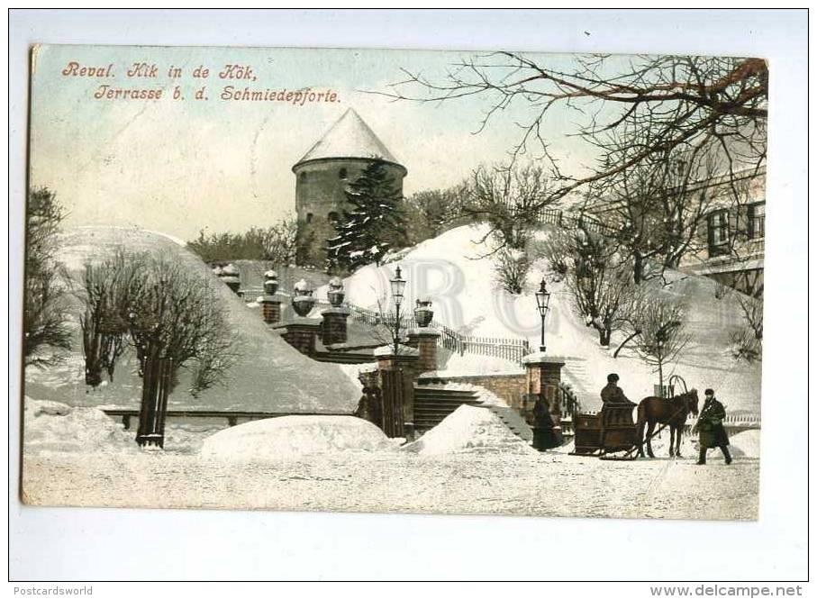 233164 ESTONIA REVAL TALLINN Kik De Kok 1909 Year RPPC - Estonie
