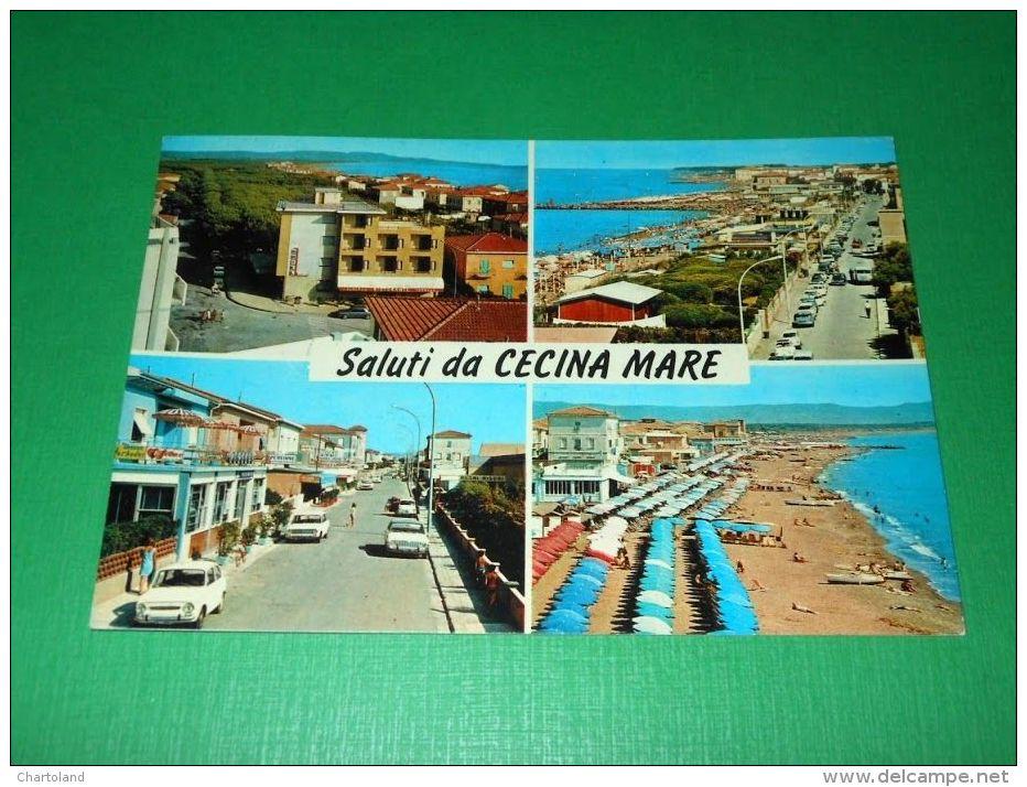 Cartolina Saluti Da Cecina Mare - Vedute Diverse 1972 - Livorno
