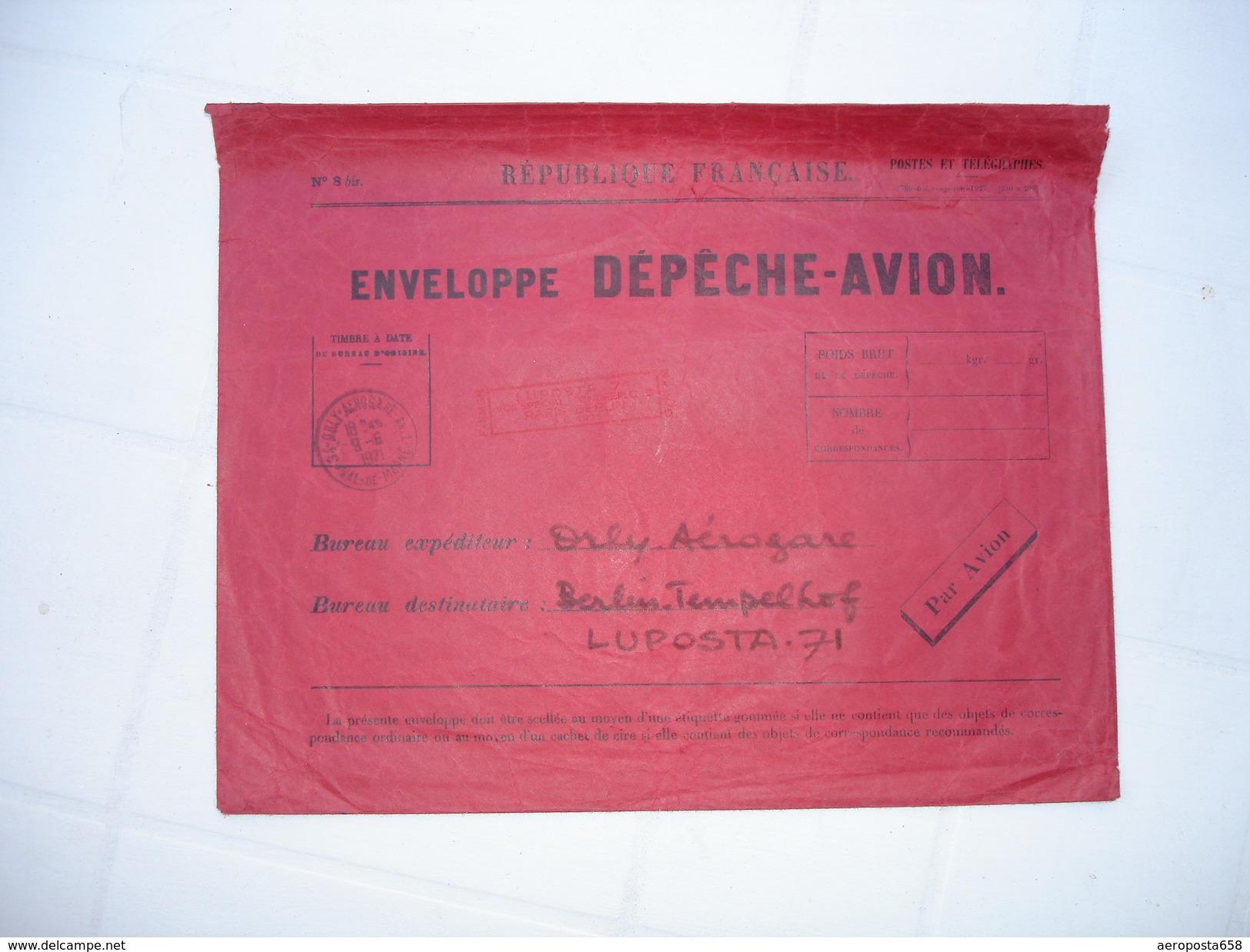Enveloppe Dépèche-avion - Kommerzielle Luftfahrt