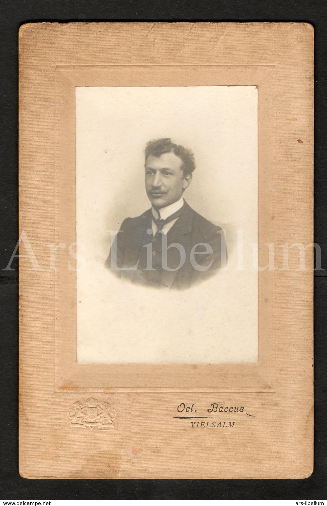 Cabinet Card / Photo De Cabinet / Kabinet Foto / Homme / Man / Photo Oct. Baccus / Vielsalm / Belgique - Fotos