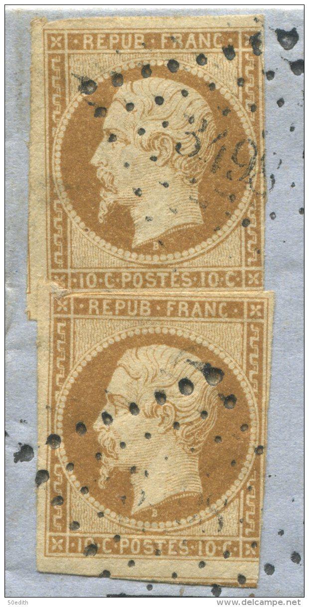 N°9x2  + Pc 3498  / Lettre De Vassy Sur Blaise (haute Marne)  Pour Montierender - 1852 Luigi-Napoleone