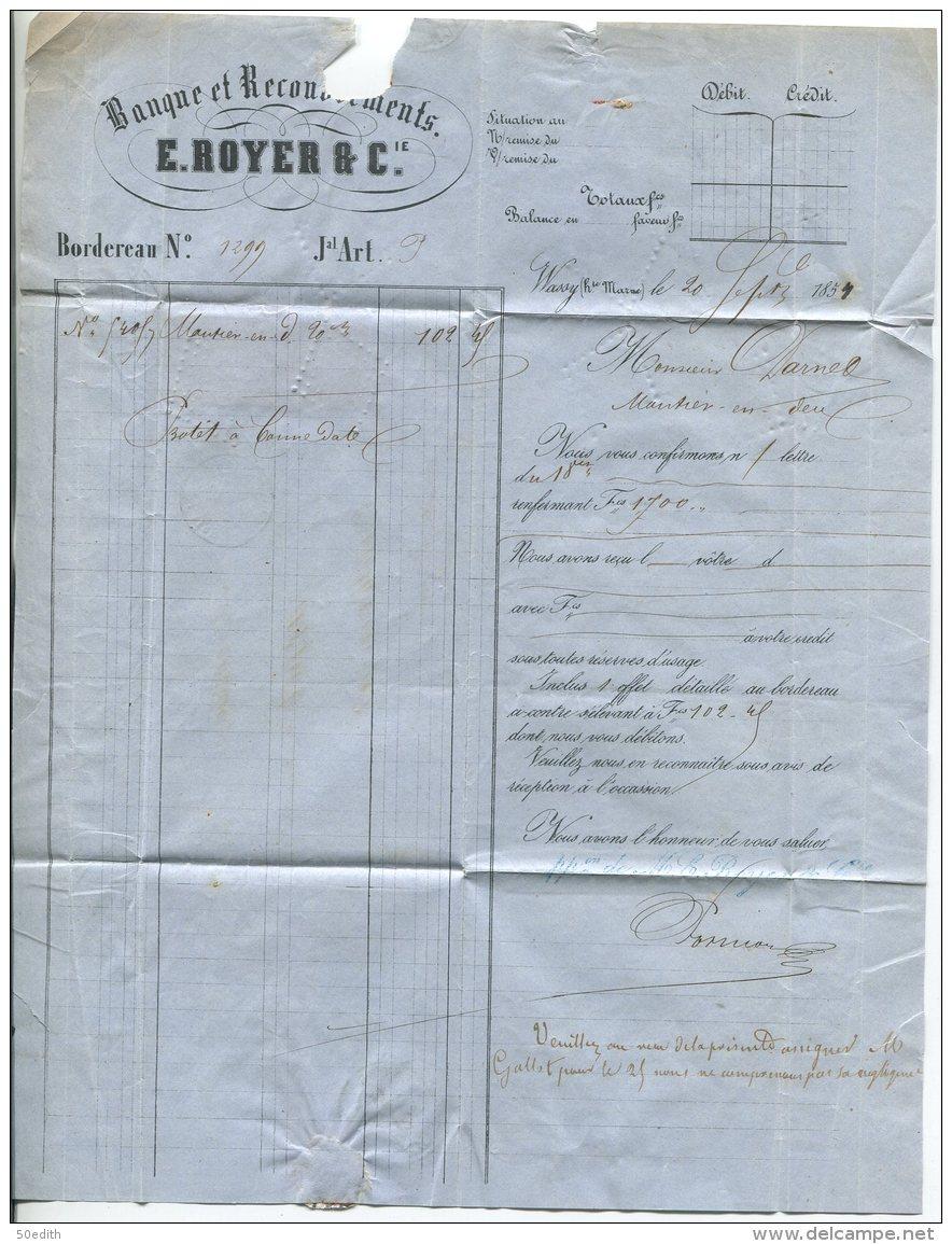 N°9x2  + Pc 3498  / Lettre De Vassy Sur Blaise (haute Marne)  Pour Montierender - 1852 Louis-Napoléon