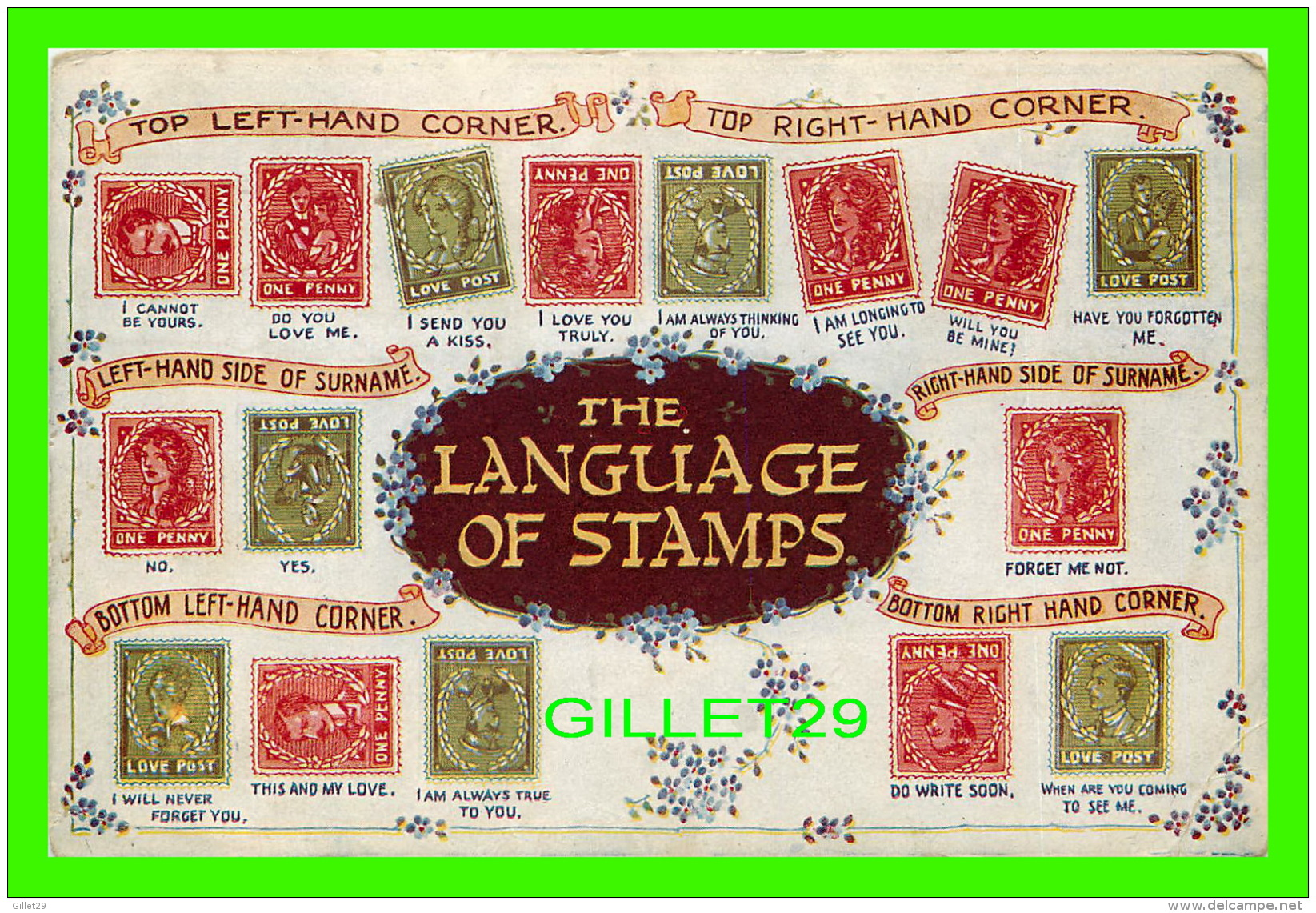 LONDON, UK - THE LANGUAGE OF STAMPS - THE REGENT PUBLISHING CO LTD - - London