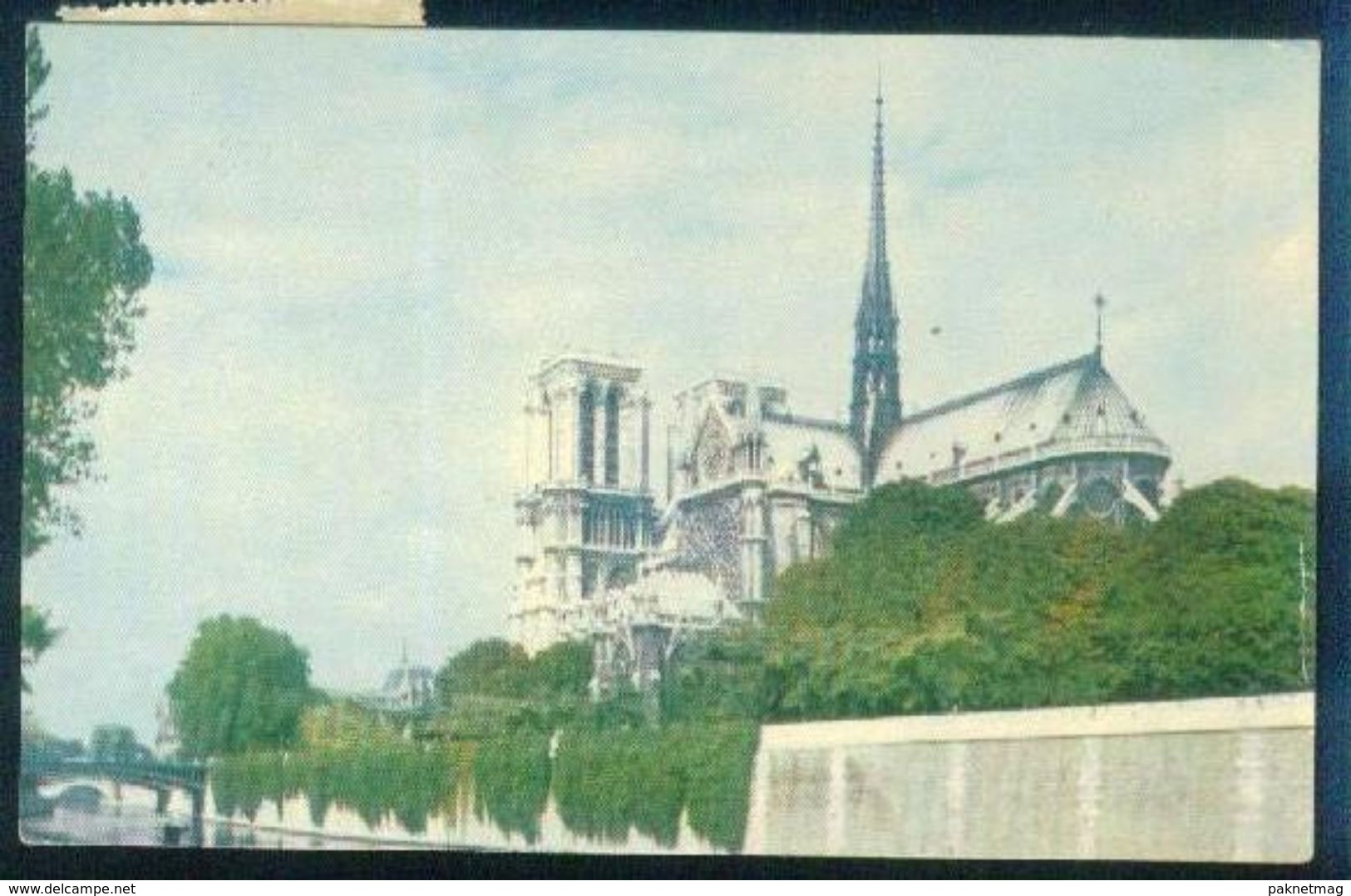 G109- Postal Used Post Card. Posted From France To USA. United State Of America. - United States