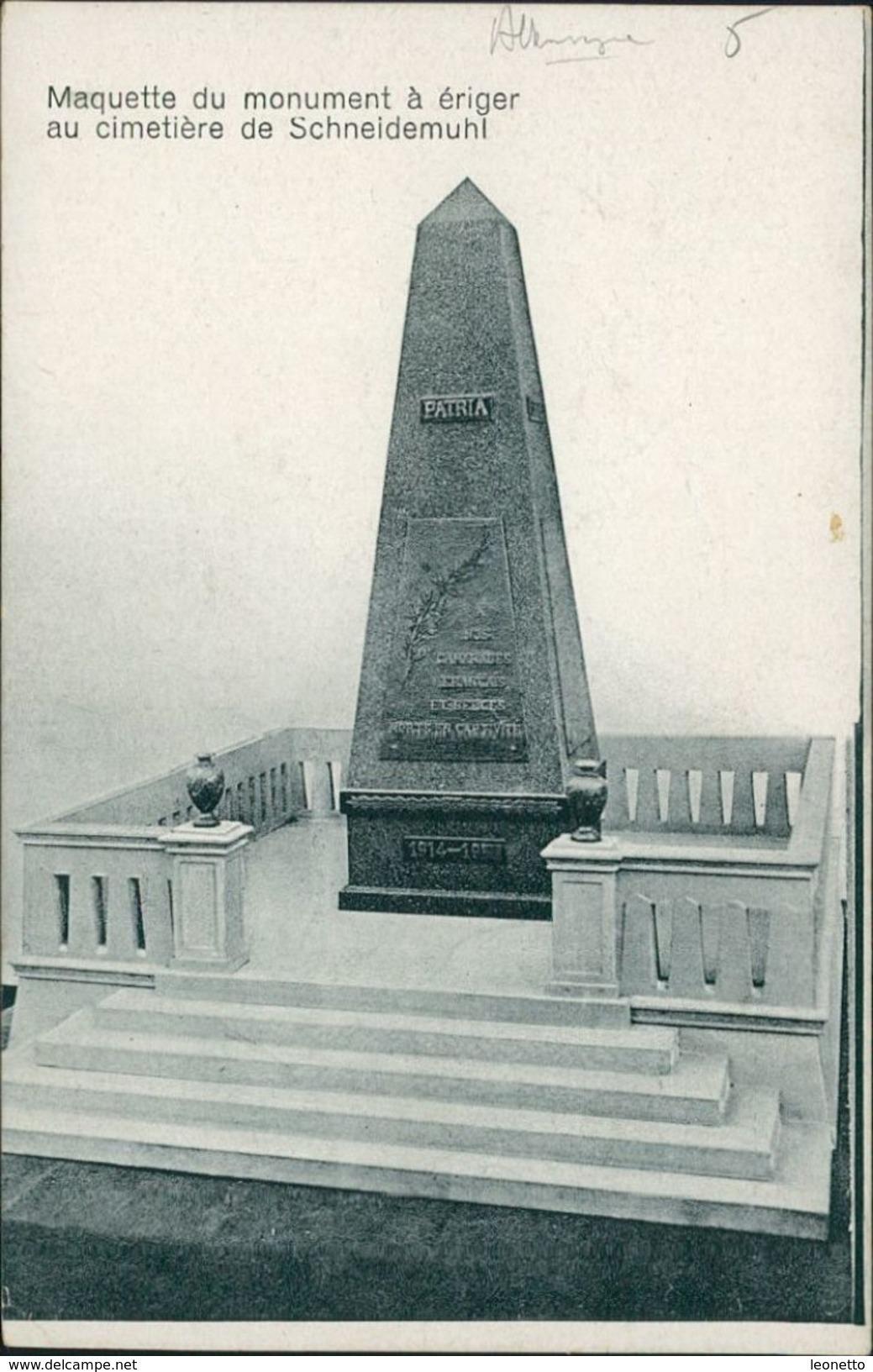 AK Schneidemühl Piła, Denkmal, Um 1918 (21657) - Polen
