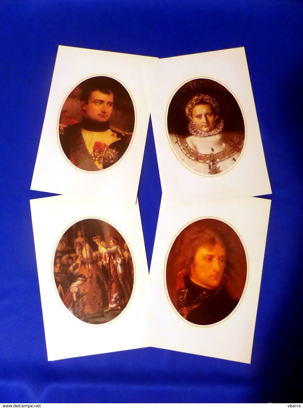 4 Gravures De Napoléon En Papier Couché - Otras Colecciones