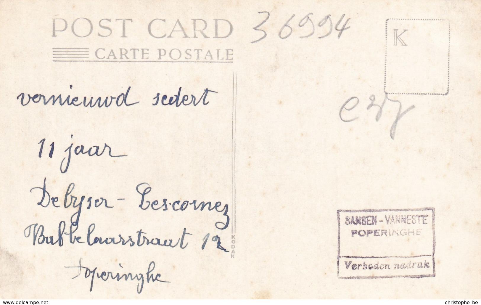 Poperinghe, Poperinge, Fotokaart Oorlogsschade, 2 Scans (pk36994) - Poperinge