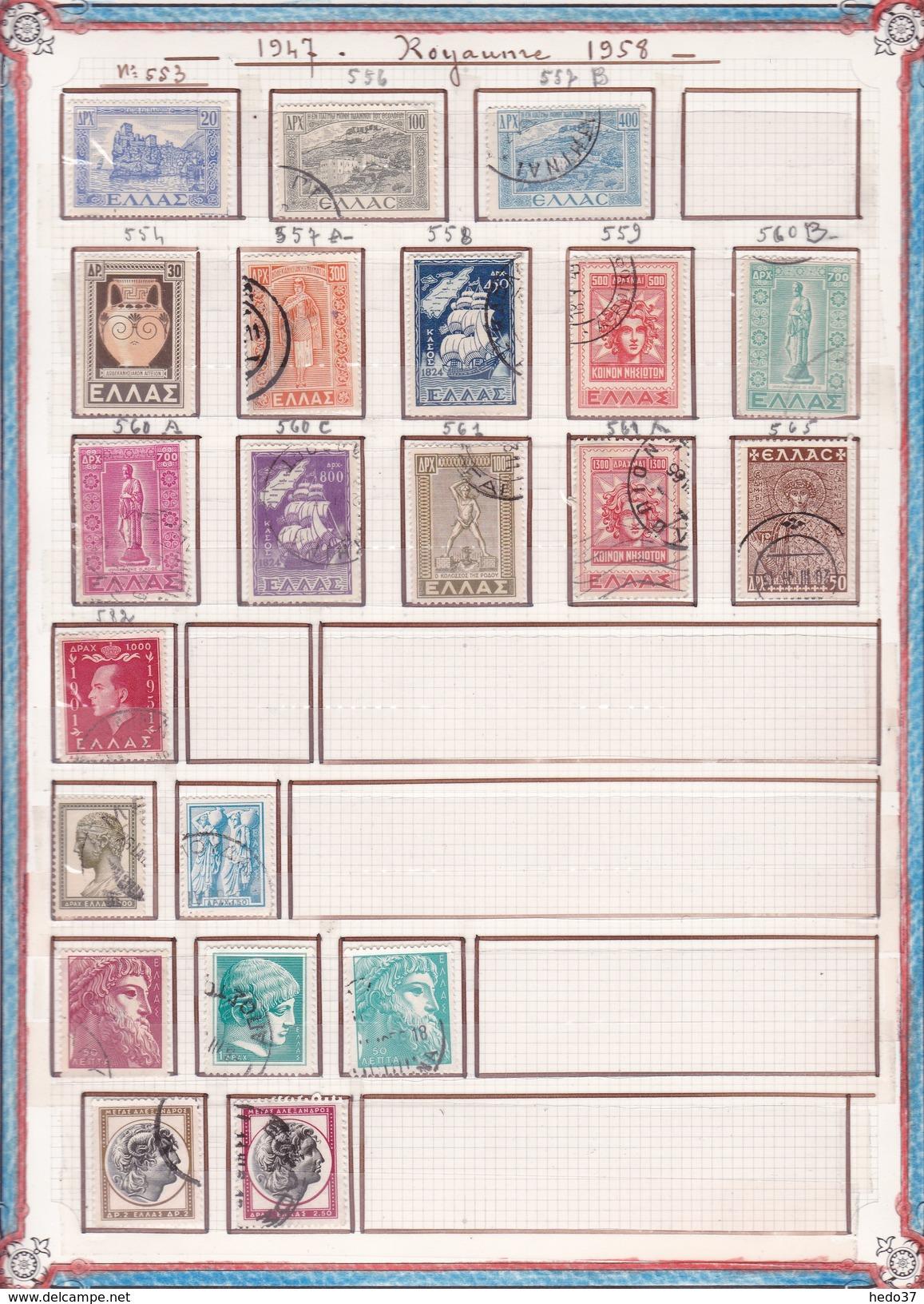 Grèce - Collection Vendue Page Par Page - Timbres Neufs */**/oblitérés - B/TB - Collections