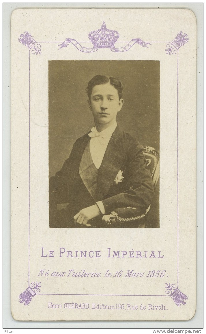CDV Circa 1874 Henri Guérard à Paris. Le Prince Impérial. - Old (before 1900)