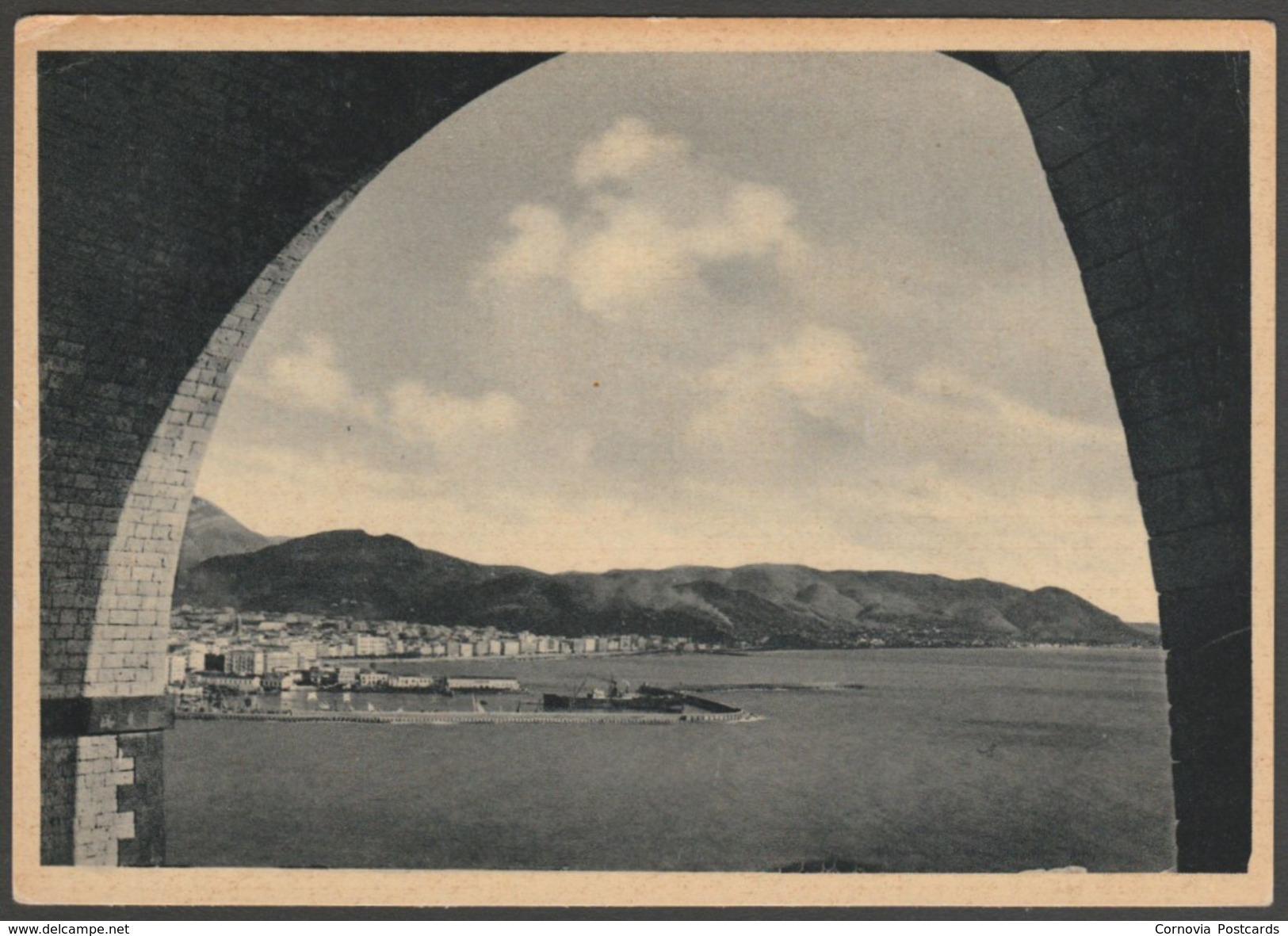 Panorama Dal Tunnel, Salerno, Campania, C.1940s - Cataneo Cartolina - Salerno