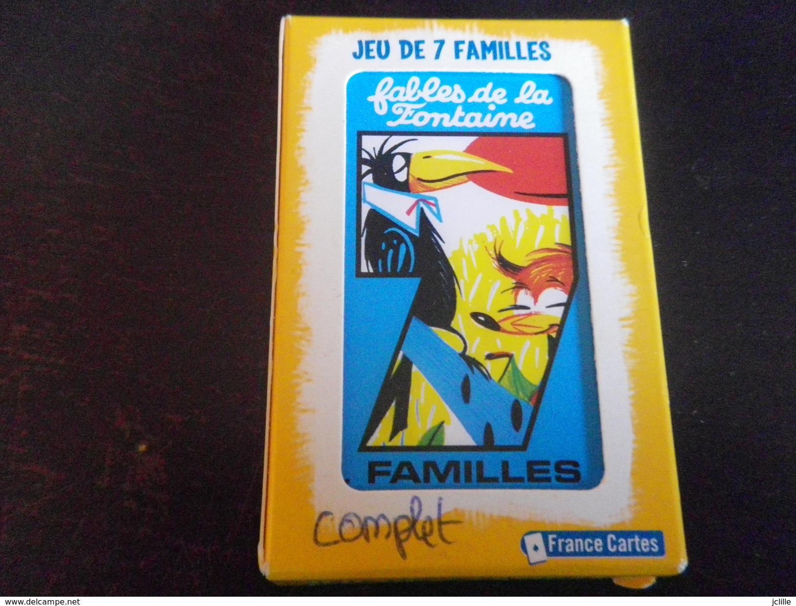 Jeu De 7 Familles - Fables De La Fontaine - Cartes à Jouer