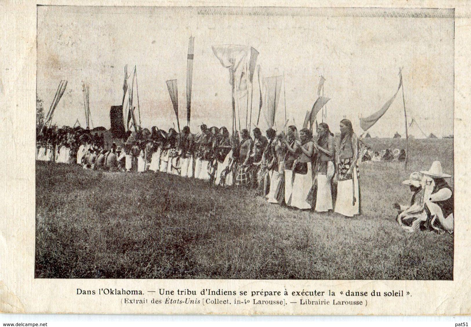 """USA / Etats Unis - OKLAHOMA :  Un Tribu D' Indiens Dse Prépare à  Exécuter La """" Danse Du Soleil """" - Etats-Unis"""