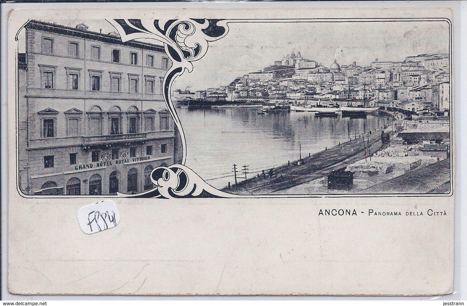 ANCONA- PANORAMA DELLA CITA-CARTE EDITEE PAR LE GRAND HOTEL ROYAL VITTORIA-RECT/VERSO- - Ancona
