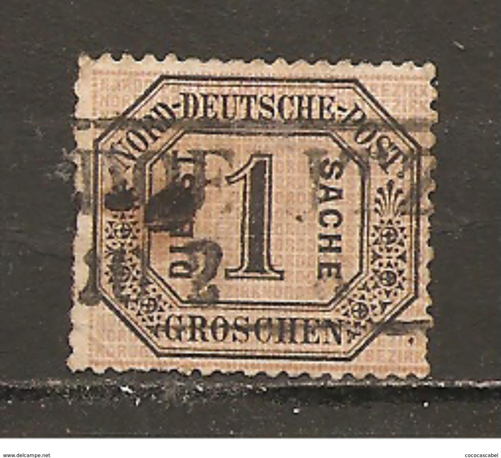 Confederacion De Alemania Del Norte Yvert Servicio 4 (usado) (o) (defectuoso) - Conf. De Alemania Del Norte