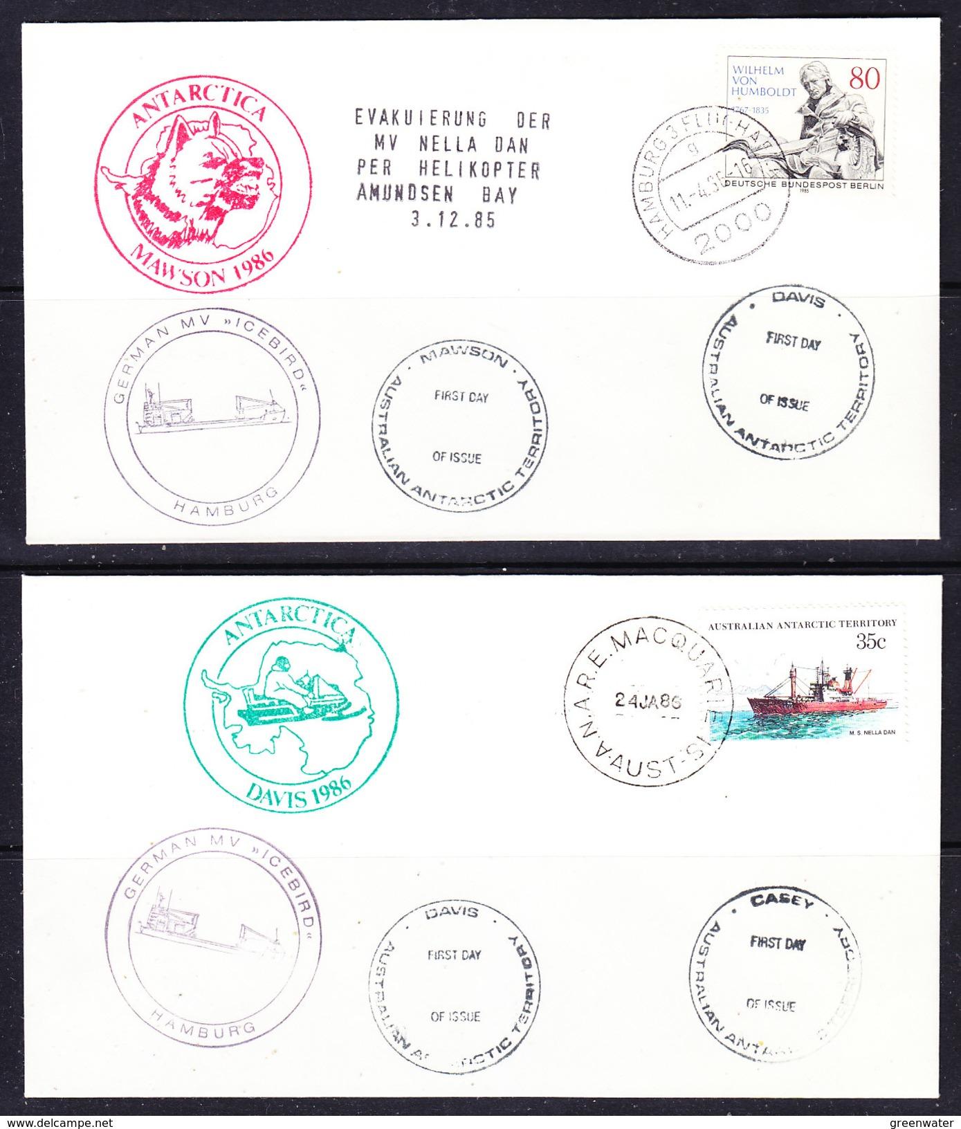 Antarctica 1986 MV Icebird 4 Covers (F6521) - Poolshepen & Ijsbrekers