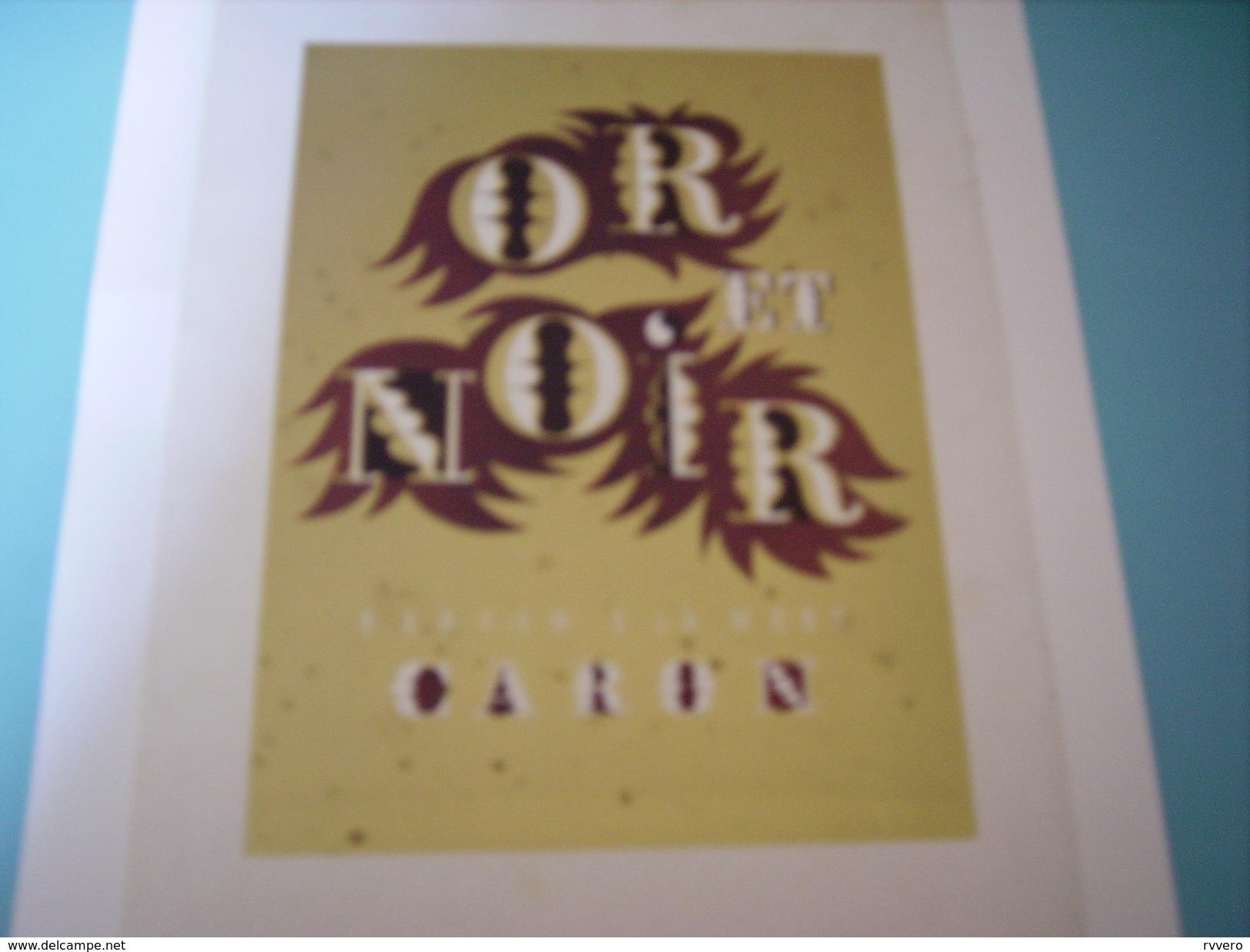 ANCIENNE PUBLICITE PARFUM A LA MODE OR ET NOIR CARON  1949 - Unclassified