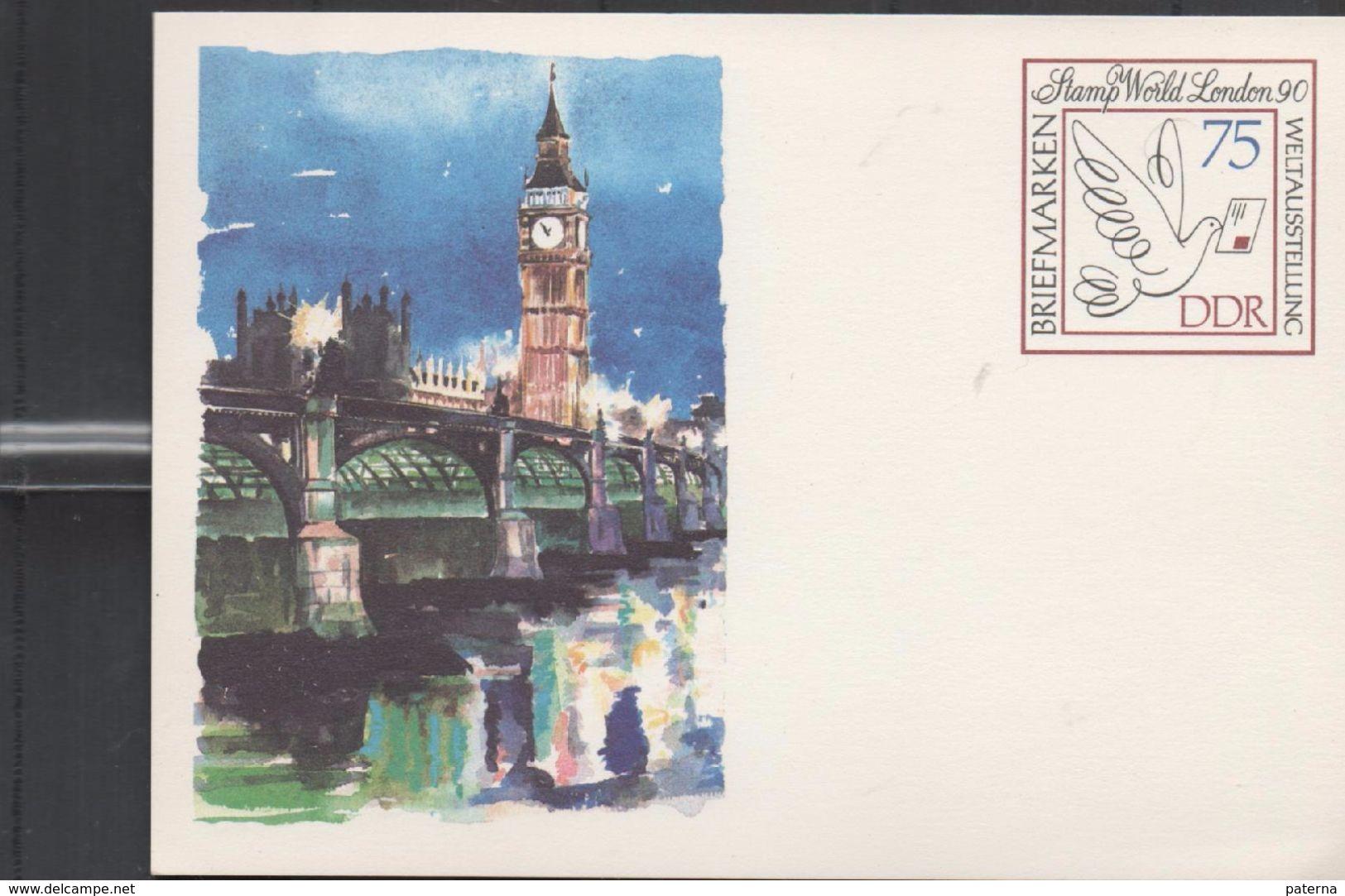 3150  Entero Postal  DDR Stamp World London 90 Nuevo, Alemania - [6] República Democrática