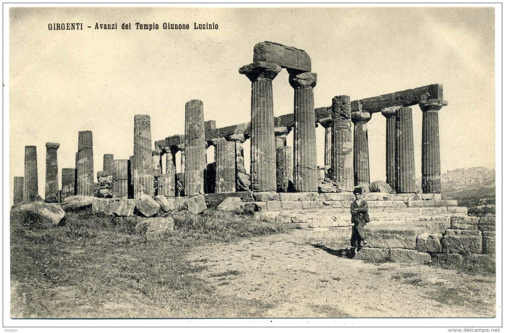 R.422.  GIRGENTI - AGRIGENTO - Avanzi Del Tempio Giunone Lacinia - Agrigento