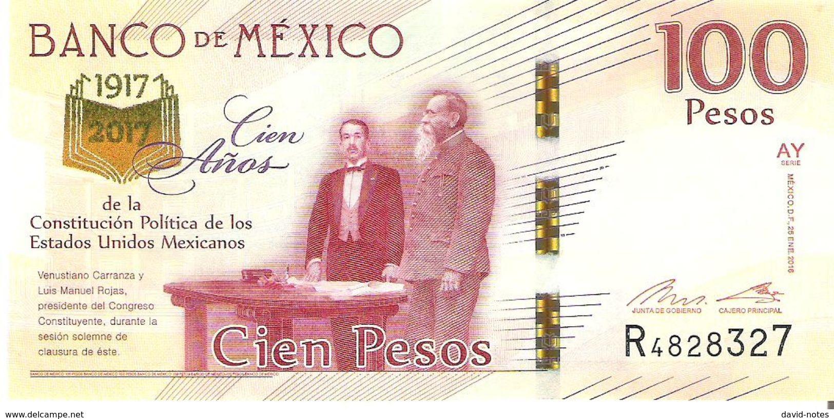 Mexico - Pick New - 100 Pesos 2016 - 2017 - Unc - Commemorative - Mexique