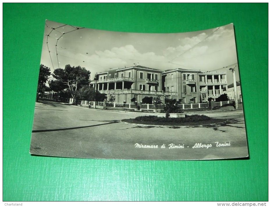 Cartolina Miramare Di Rimini - Albergo Tonini - 1952 - Rimini