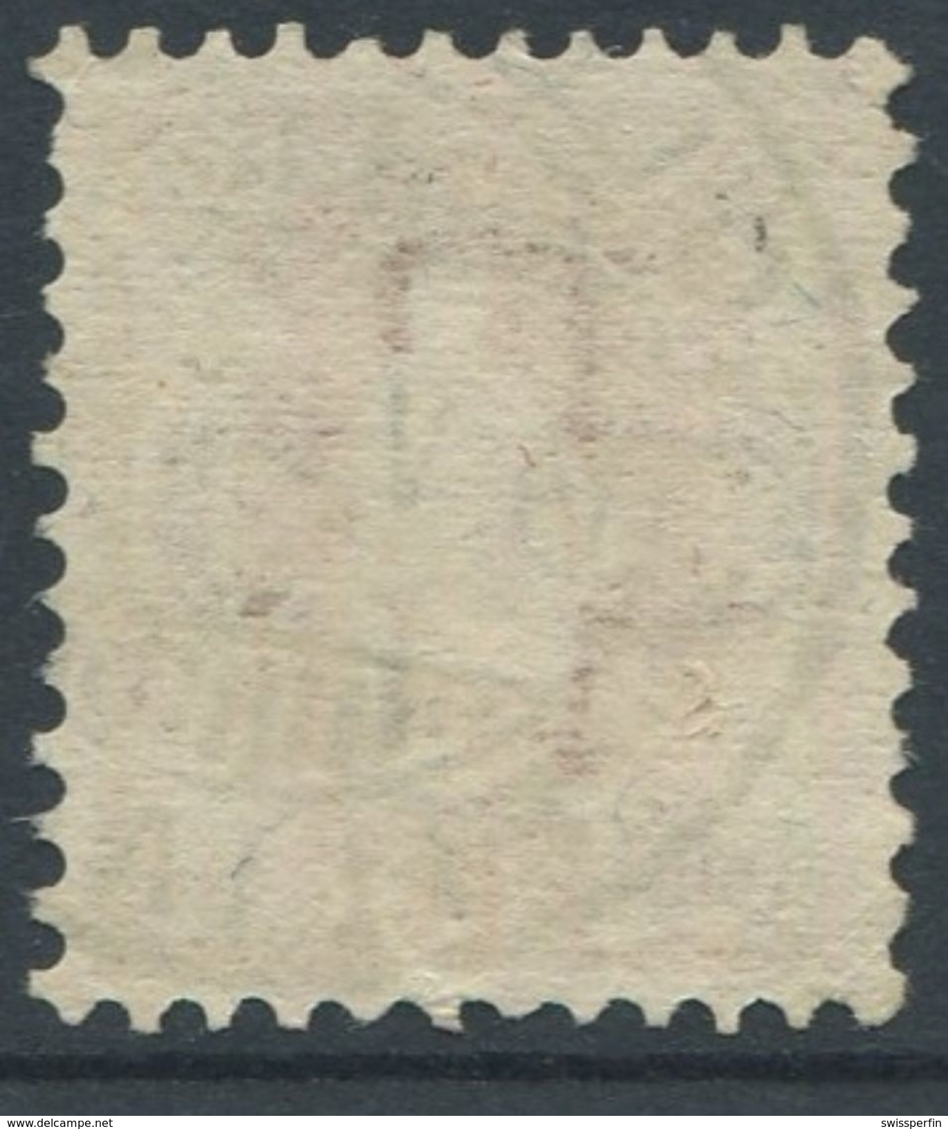 1648 - 30 Rp. Stehende Helvetia (Faser) Mit Vollstempel SOLOTHURN 14.V.08 - SBK Katalogwert CHF 650.00 - 1882-1906 Armoiries, Helvetia Debout & UPU