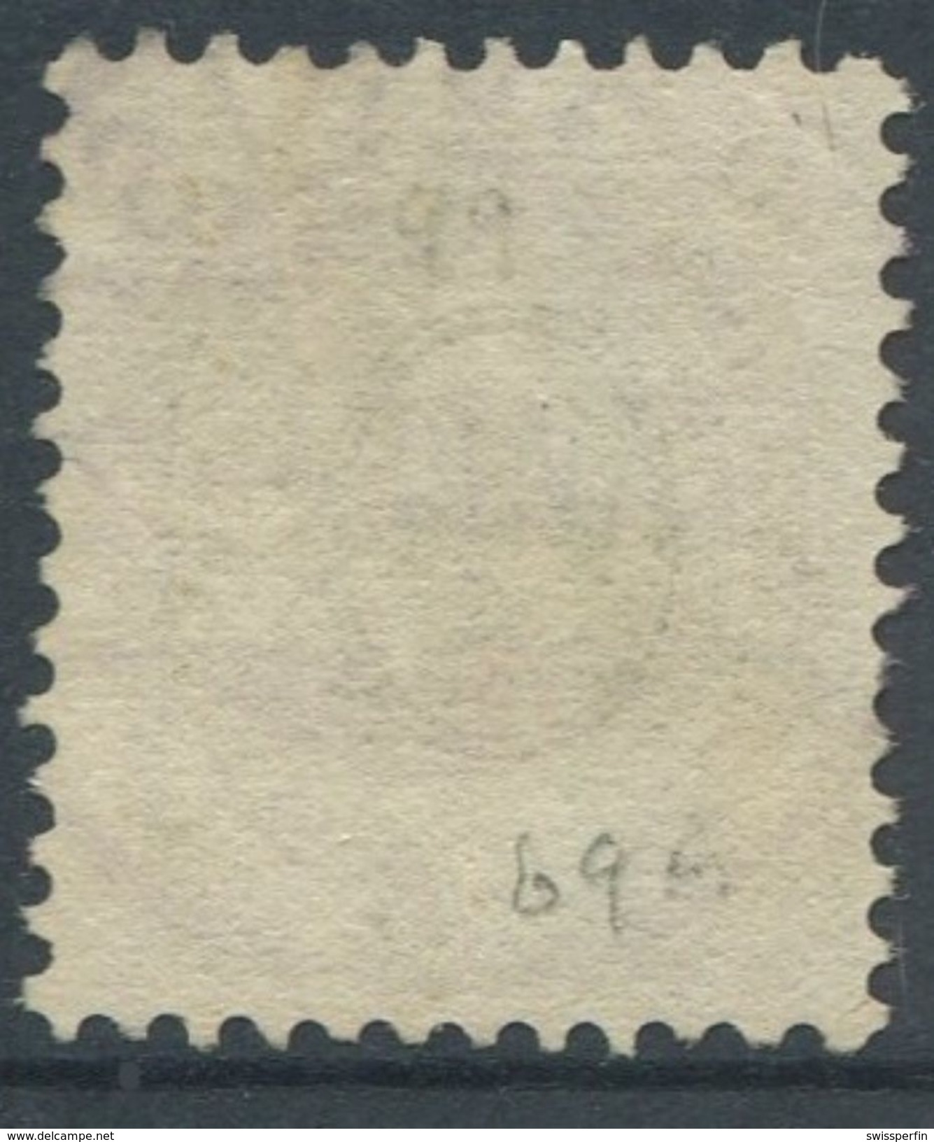 1652 - 40 Rp. Stehende Helvetia Mit Vollstempel THUSIS 27.IV.89 - 1882-1906 Wappen, Stehende Helvetia & UPU