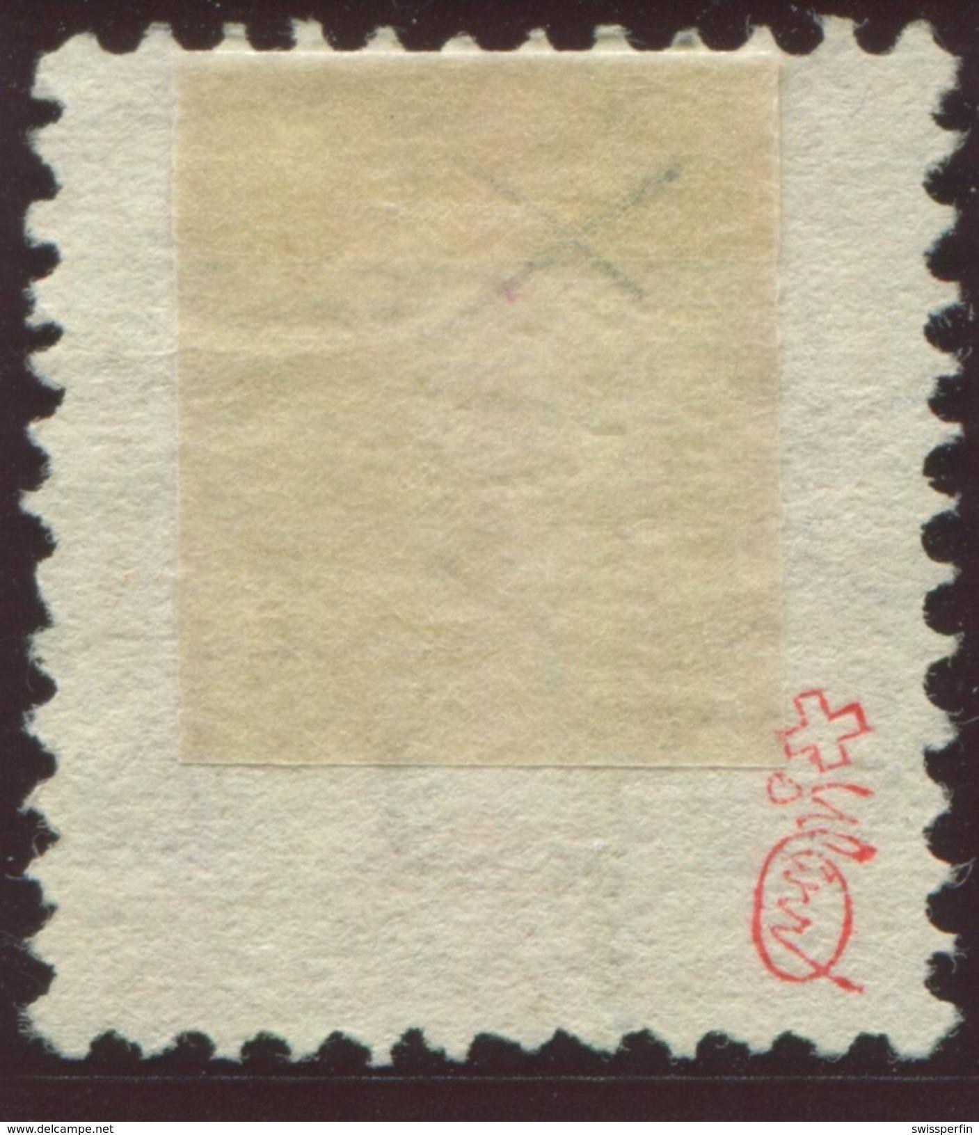 1654 -  3 Fr. Stehende Helvetia Mit Retusche - Marke Signiert Moser Und Mit Attest Renggli - Oblitérés