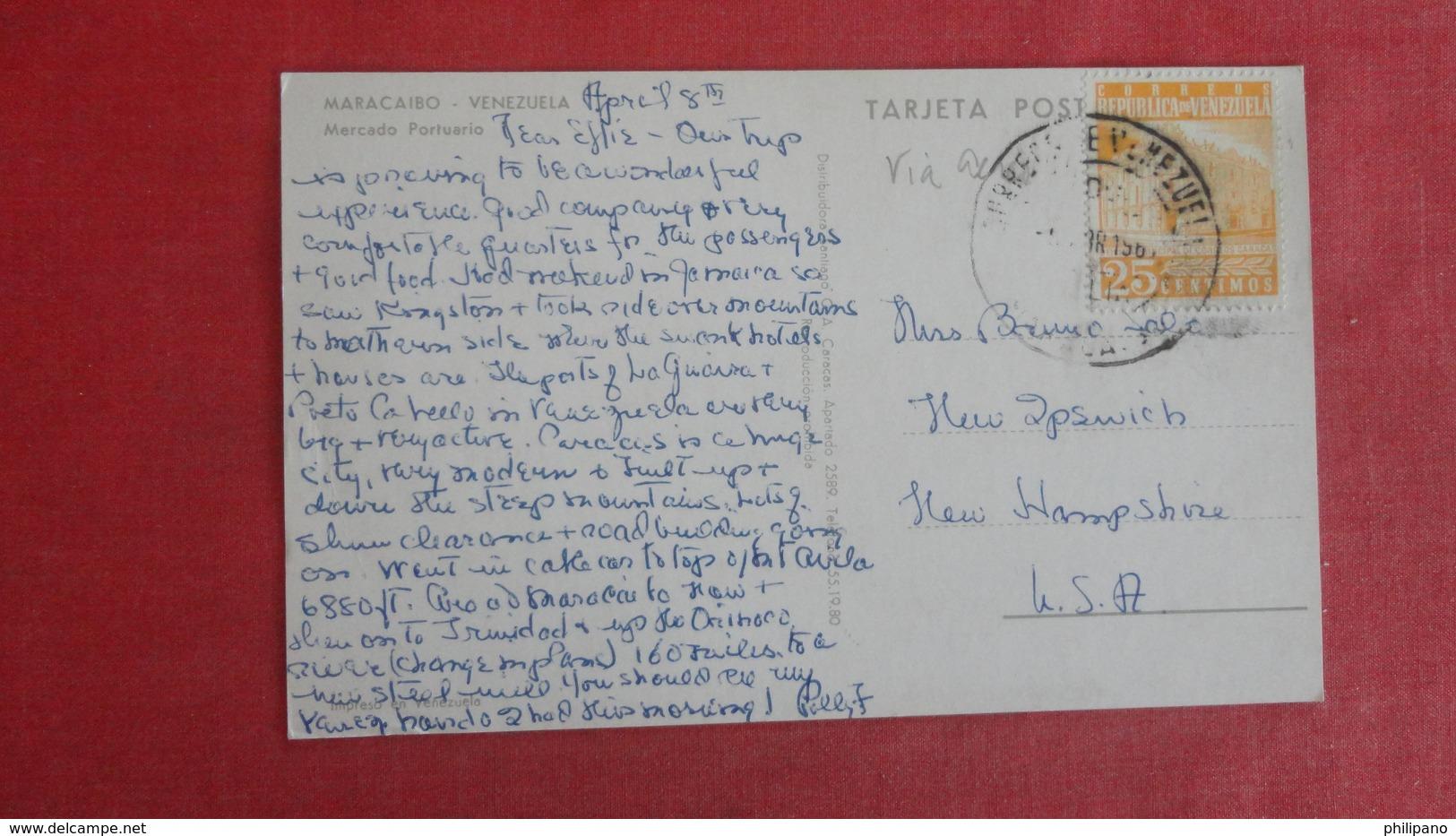 Venezuela Maracaibo  Stamp & Cancel  To USA  Ref-2618 - Venezuela