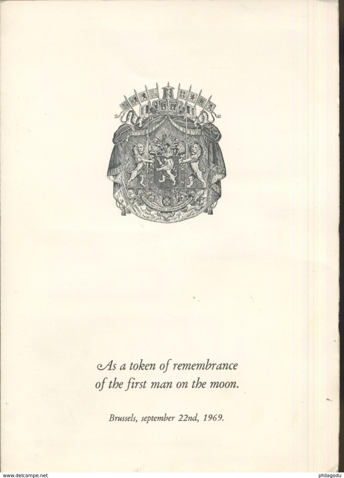 1969 Souvenir Ministériel Remis à Ceux Qui étaient Invités Au Banquet Où Les Astronautes Furent Présents - Non Dentelés