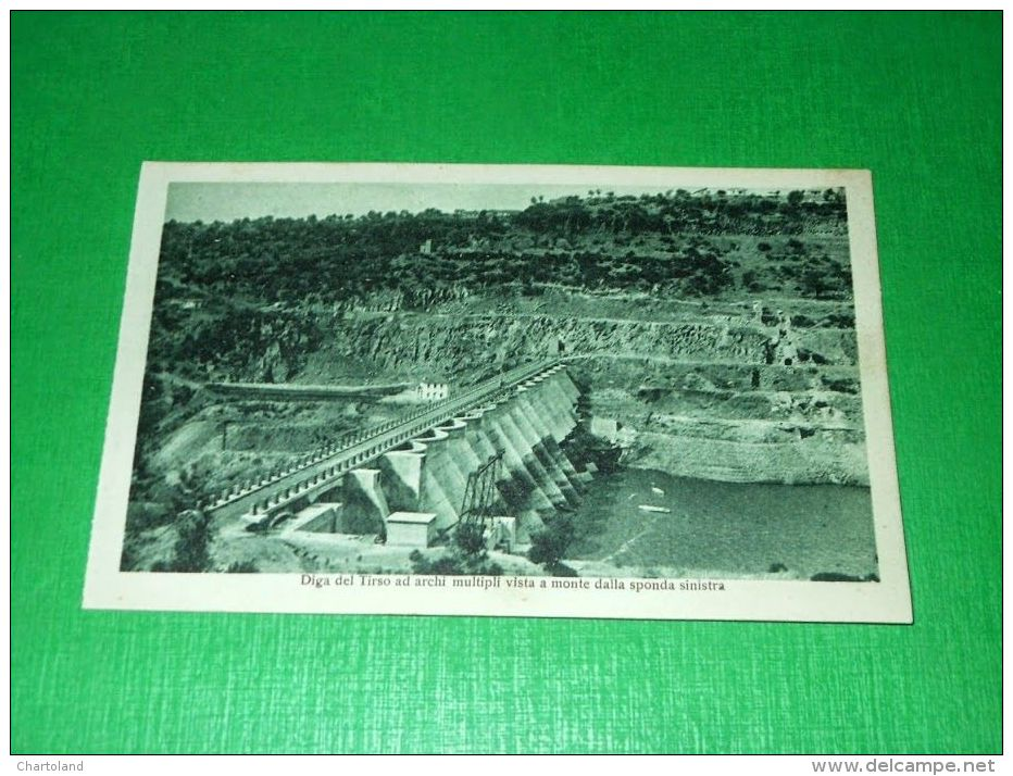 Cartolina Oristano - Diga Del Tirso Ad Archi Multipli Vista A Monte 1930 Ca - Oristano