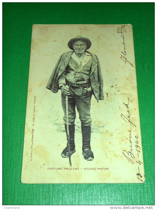 Cartolina Costume Friulano - Vecchio Pastore 1900 - Udine