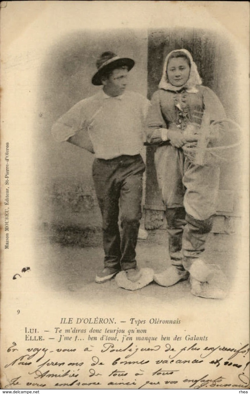 17 - ILE D'OLERON - Types - Pecheurs - Ile D'Oléron