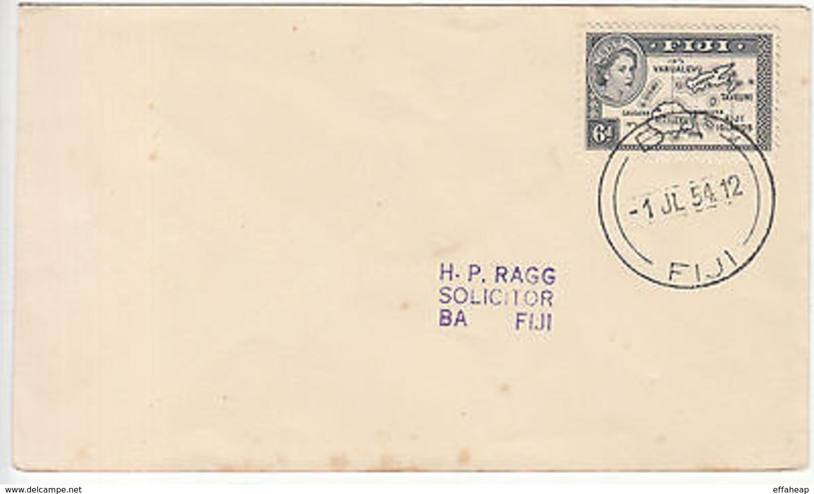 Fiji: QE2 Cover, Ba, Fiji, 1 July 1954 - Fiji (...-1970)