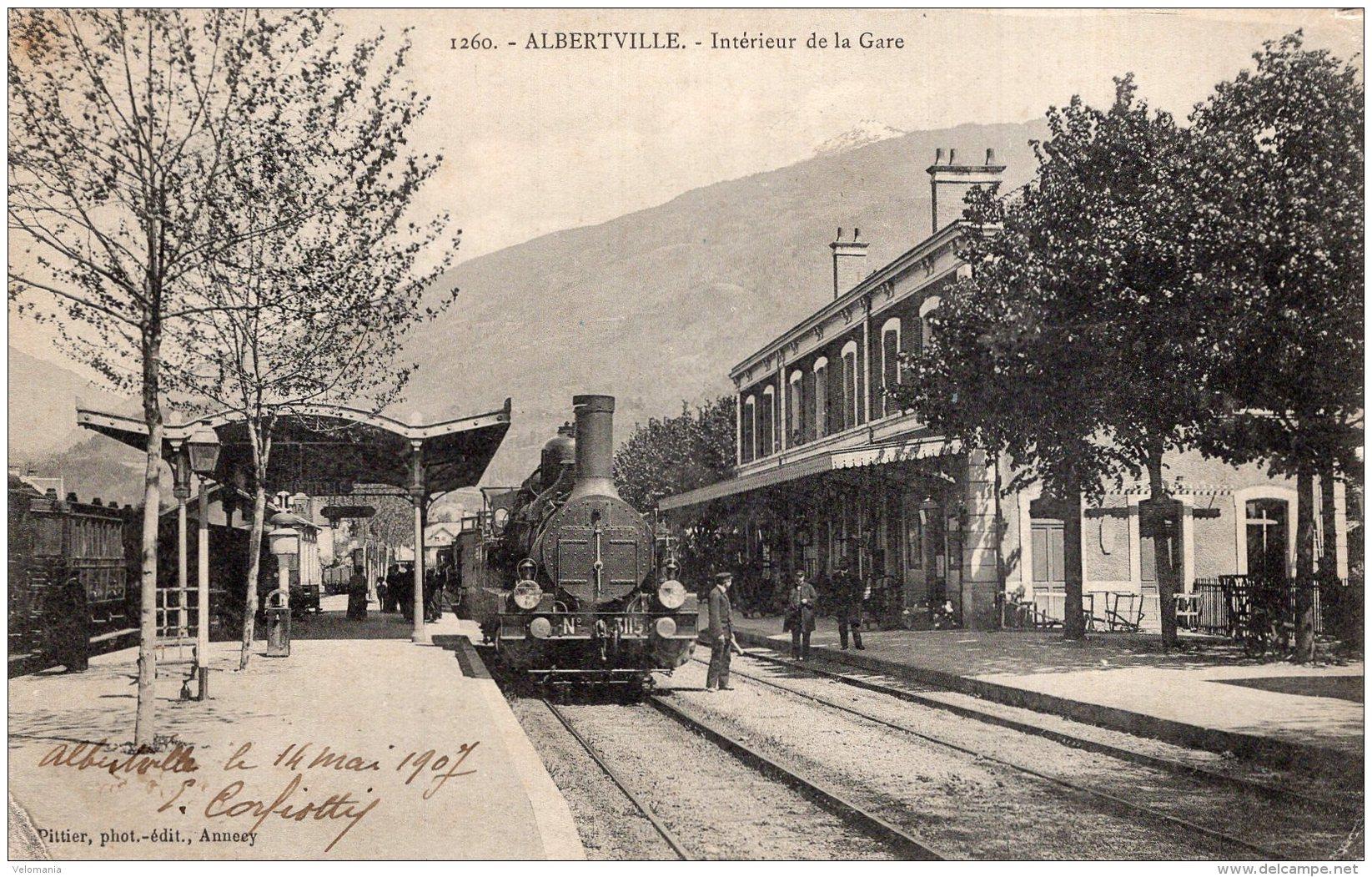 """V10645 Cpa 73 Albertville - Intérieur De La Gare """" Train"""" - Albertville"""