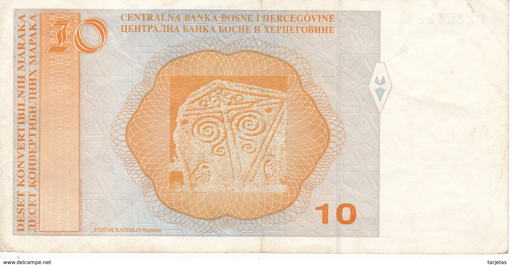 BILLETE DE BOSNIA HERZEGOVINA DE 10 MARKA DEL AÑO 1998 (BANK NOTE) - Bosnia Y Herzegovina