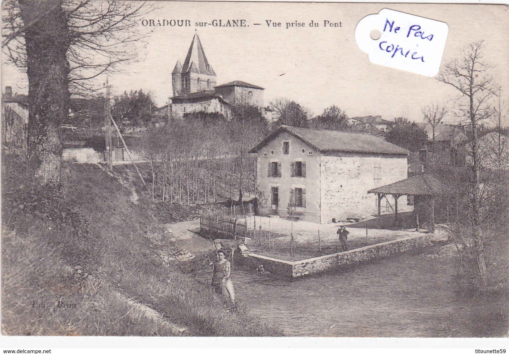 87-ORADOUR-sur-GLANE - Vue Du PONT - Oradour Sur Glane