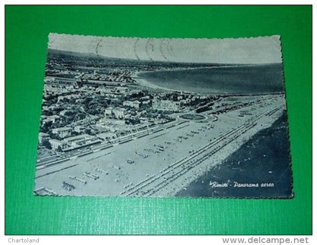 Cartolina Rimini -- Panorama Aereo 1957 - Rimini