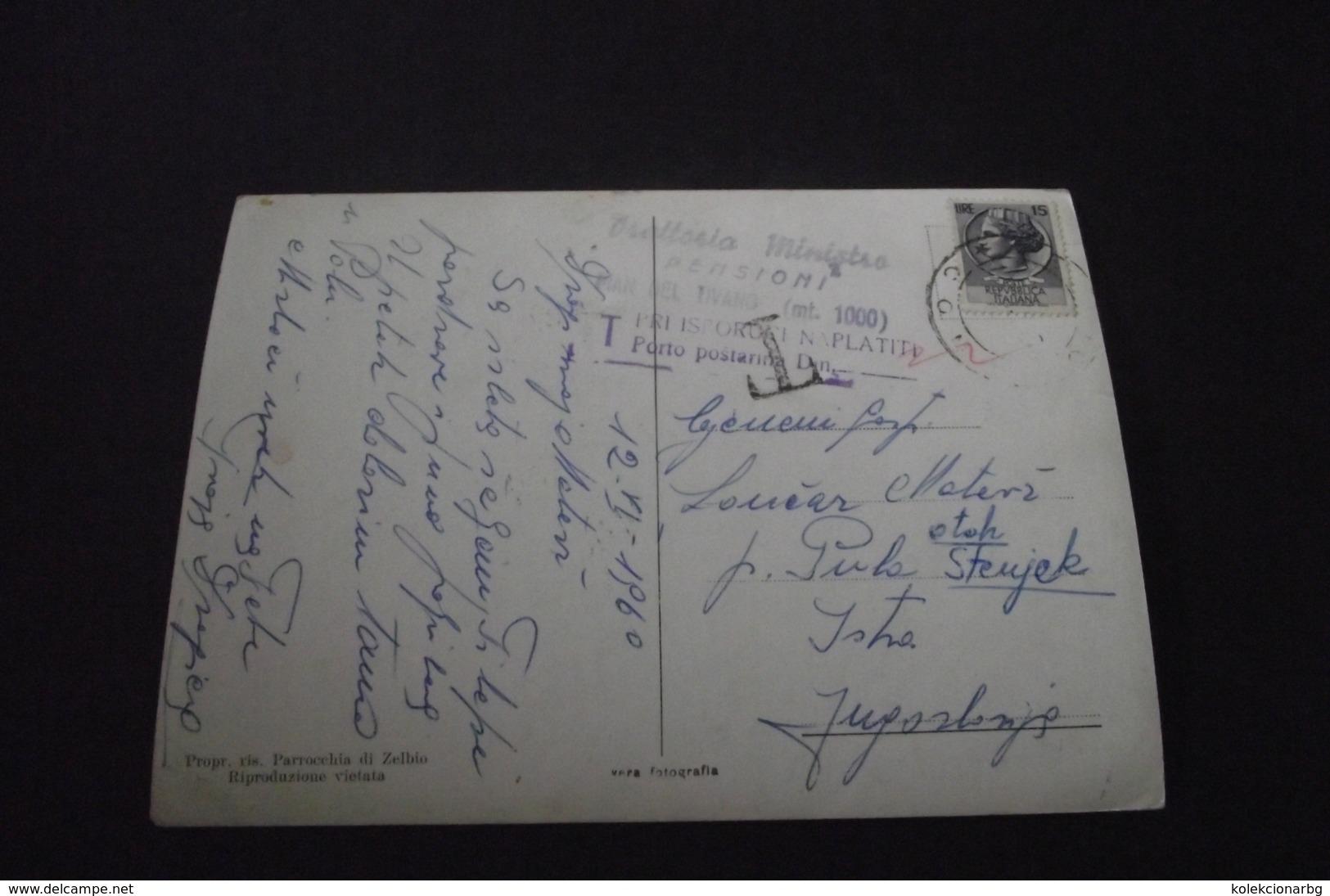 584. Dopisnica Piano Del Tivano(Italija- Ostrvo Stenjak (Sv. Jeronim) - 1945-1992 Repubblica Socialista Federale Di Jugoslavia
