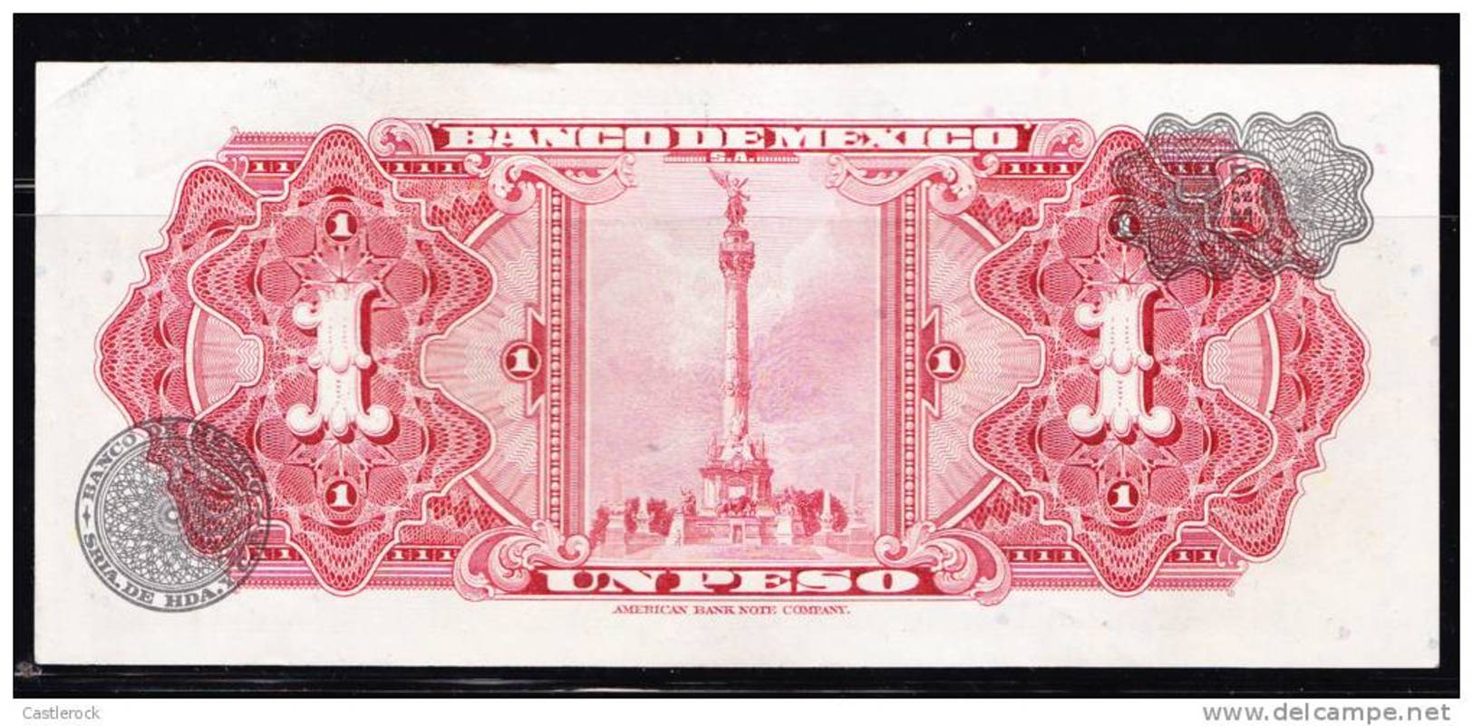 RT)BANKNOTE MEXICO: $ 1 PESO CALENDAR AZTECA 20 , 1959 UNC - Mexico