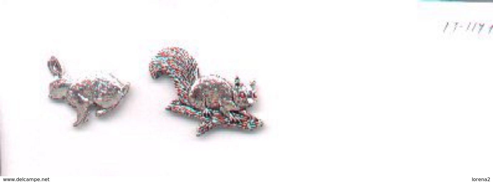 Pins Relieve. 2 Pins Conejo Y Ardilla. Ref. 13-1171 - Sin Clasificación
