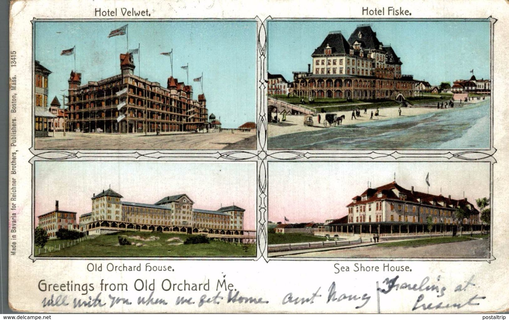 GREETINGS FROM OLD ORCHARD ME. - United States