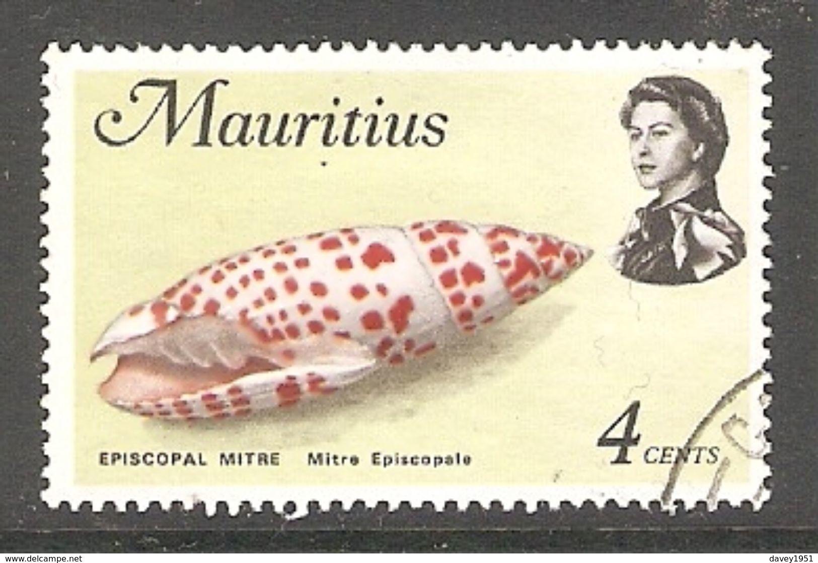 005198 Mauritius 1977 Sea Life 4c FU - Mauritius (1968-...)