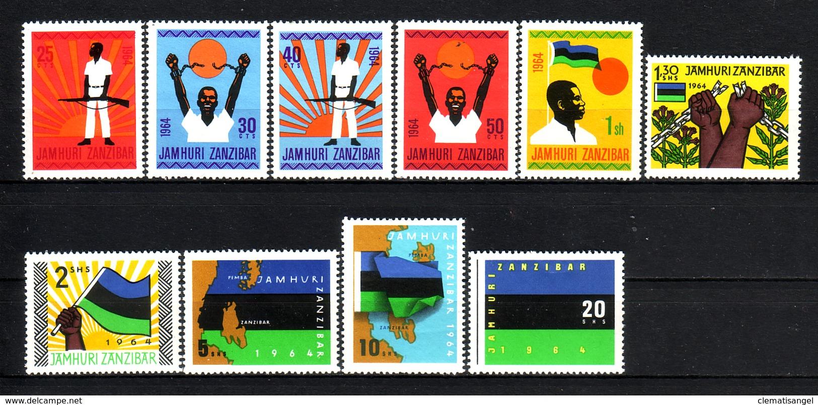374o * ZANZIBAR * JAMHURI 1964 * POSTFRISCH **!! - Zanzibar (1963-1968)