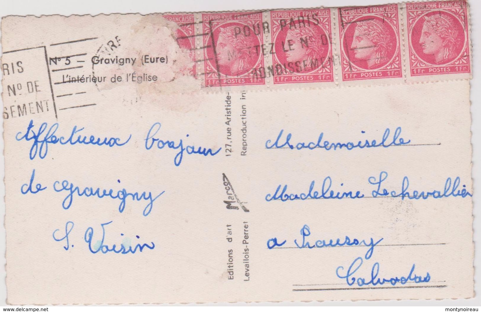 Eure :  GRAVIGNY : Int.  De  L  église - Autres Communes