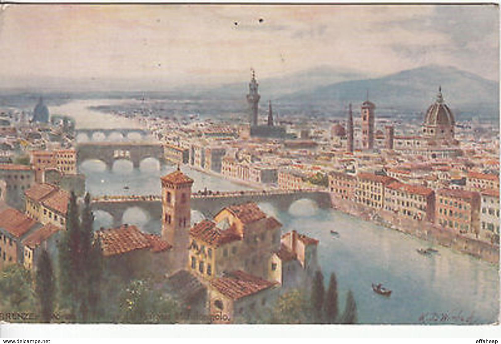 Italy: Postcard, Florence; Firenze To Portsmouth, USA, 4 July 1927 - Italy