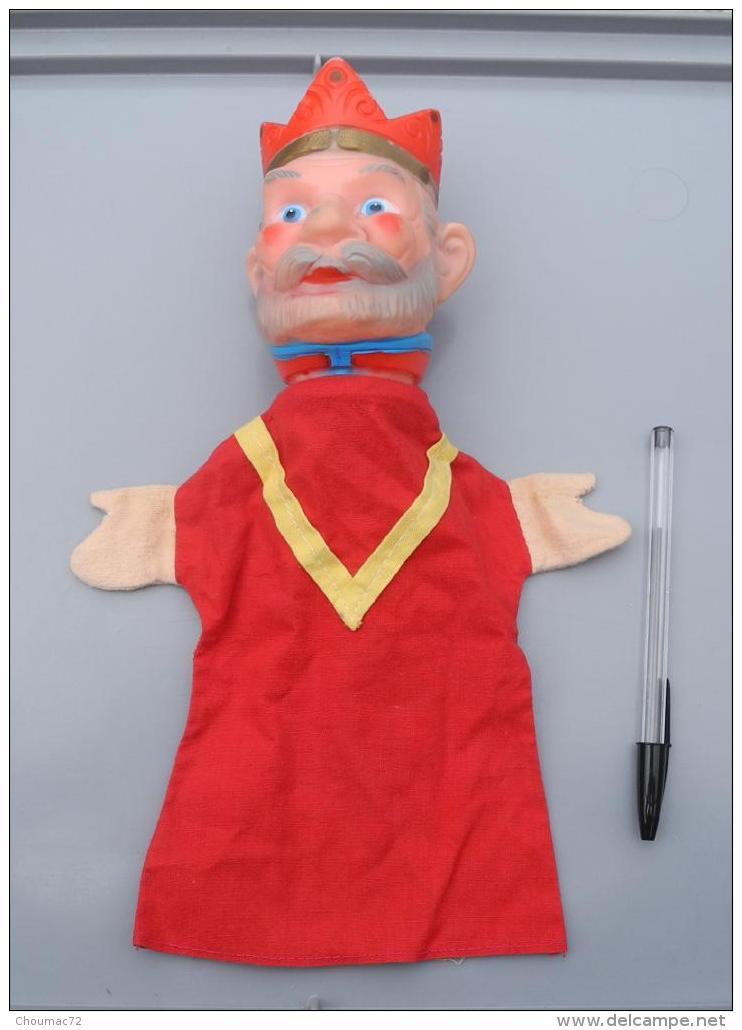 003, Marionnette Le Roi, Tête En Caoutchouc Et Vetements Tissus Années 70 ??? - Marionette
