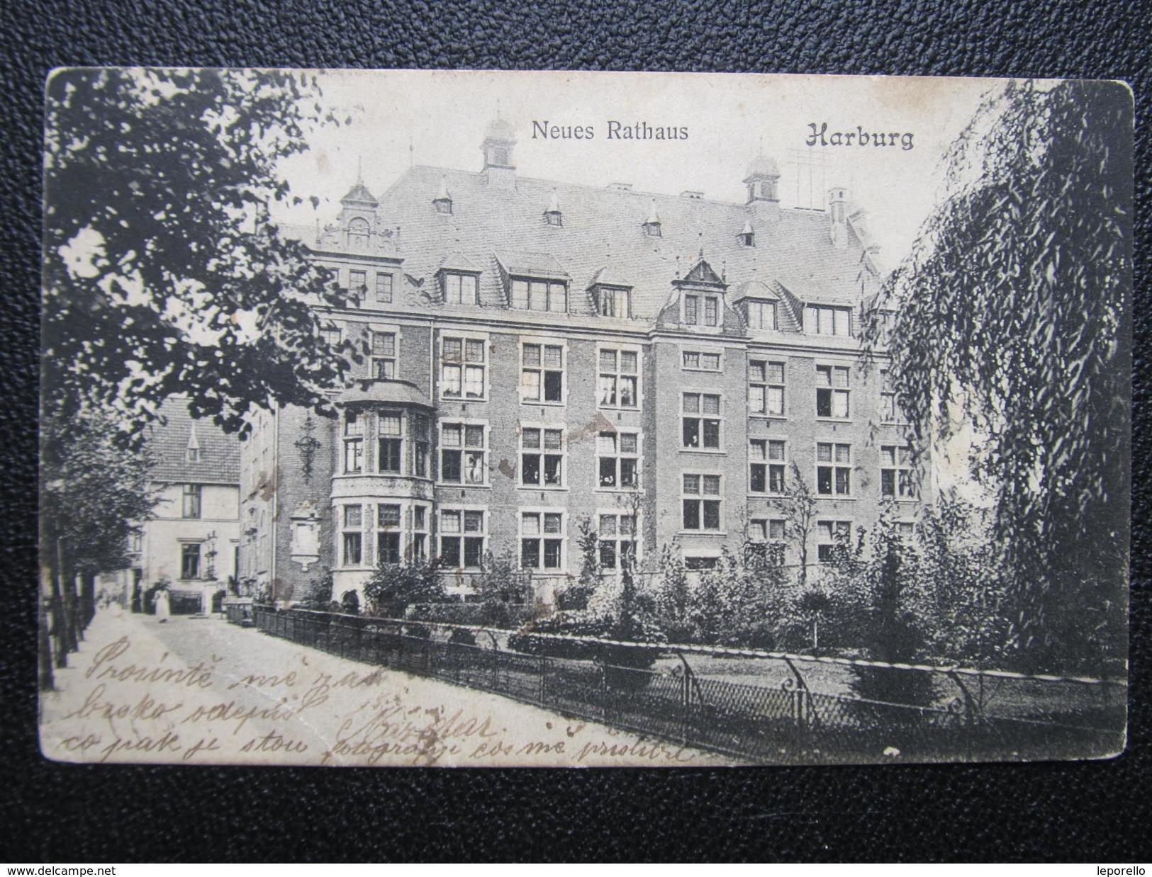 harburg ak hamburg harburg rathaus 1906 d 25445. Black Bedroom Furniture Sets. Home Design Ideas