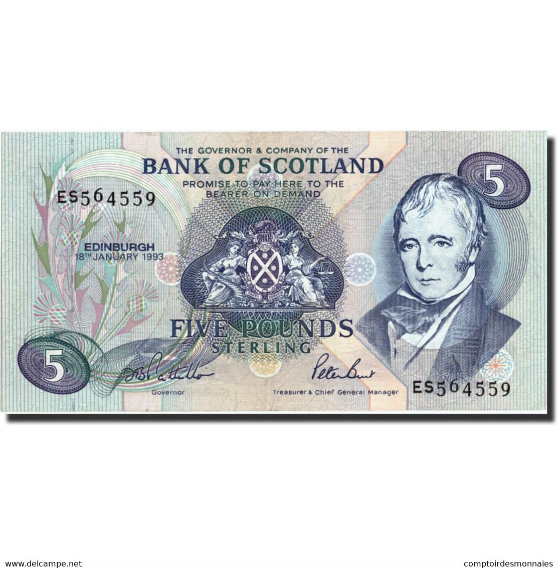 Scotland, 5 Pounds, 1993, KM:116b, 1993-01-18, SUP - [ 3] Scotland